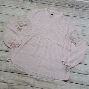 2 for $10 🌞《A. Byer》sheer pink blouse